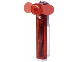 Plastový kapesní mini ventilátor MILIARY s nádobou na vodu - červená