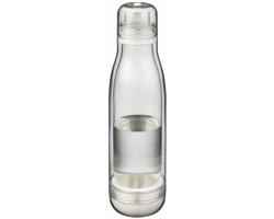 Tritanová sportovní láhev HADLOCK se sklem odolným proti zápachu, 500 ml - transparentní čirá