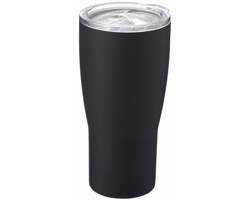 Nerezový termohrnek BRINDA s keramickým obkladem, 500 ml - černá