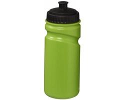 Retro sportovní láhev na pití SEPIA s bajonetovým uzávěrem, 500 ml - jemně zelená / černá
