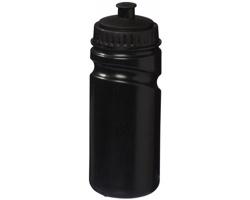 Retro sportovní láhev na pití SEPIA s bajonetovým uzávěrem, 500 ml - černá
