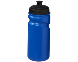Retro sportovní láhev na pití SEPIA s bajonetovým uzávěrem, 500 ml - modrá / černá