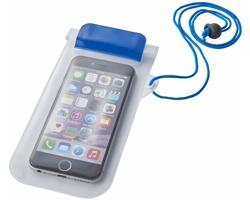 Plastové transparentní vodotěsné pouzdro BUFAGIN s lanyardem - modrá