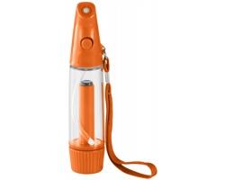Plastový rozprašovač vody BOBSY s textilním poutkem - oranžová / transparentní