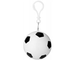 Skládací pláštěnka BORN se schránkou fotbalový míč - bílá / černá