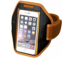 Polyesterová pažní páska GALAXY s dotekovou folií pro chytrý telefon - oranžová