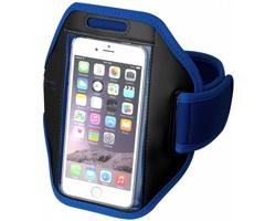 Polyesterová pažní páska GALAXY s dotekovou folií pro chytrý telefon - královská modrá