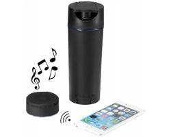 Audio láhev WEISER s osvětleným reproduktorem a hands free provozem - černá
