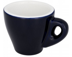 Keramický espresso hrnek LEES, 80 ml - modrá
