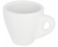 Bílý šálek na espresso ESTOP, 80 ml - bílá
