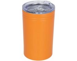 Nerezový termohrnek QUOAD s vakuovou izolací, 330 ml - oranžová
