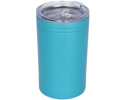 Nerezový termohrnek QUOAD s vakuovou izolací, 330 ml - světle tyrkysová