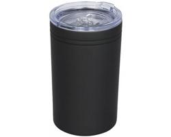 Nerezový termohrnek QUOAD s vakuovou izolací, 330 ml - černá