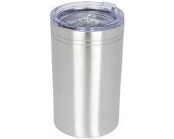 Nerezový termohrnek QUOAD s vakuovou izolací, 330 ml - stříbrná
