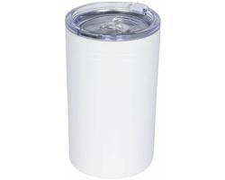 Nerezový termohrnek QUOAD s vakuovou izolací, 330 ml - bílá