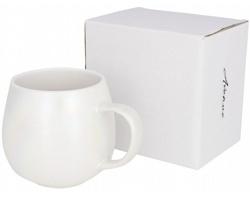 Keramický duhový hrnek MILT s perleťovým dekorem, 420 ml - bílá