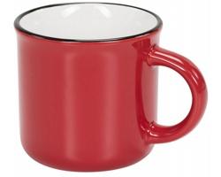 Keramický táborákový hrnek ZONK, 310 ml - červená