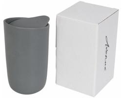 Keramický hrnek CHITTENDEN s dvojitou stěnou, 400 ml - šedá
