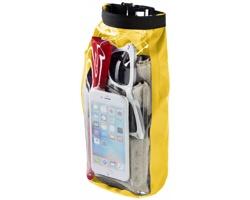 Nepromokavý outdoorový vak KONA s pouzdrem na telefon, 2 l - žlutá
