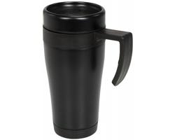Kovový termohrnek URAMIL, 400 ml - černá