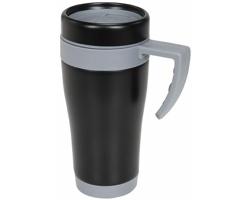 Kovový termohrnek URAMIL, 400 ml - šedá