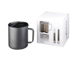 Kovový hrnek YULAN s vakuovou izolací, 420 ml - šedá