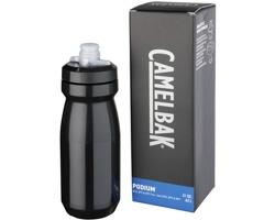 Plastová značková sportovní lahev SHACK, 620 ml - černá