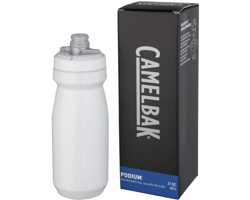 Plastová značková sportovní lahev SHACK, 620 ml - bílá