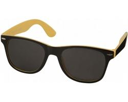 Plastové sluneční brýle NGAIO v retro stylu - žlutá / černá