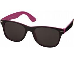 Plastové sluneční brýle NGAIO v retro stylu - růžová / černá