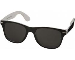 Plastové sluneční brýle NGAIO v retro stylu - bílá / černá