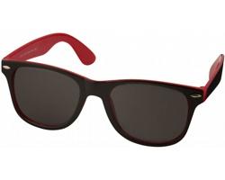 Plastové sluneční brýle NGAIO v retro stylu - červená / černá