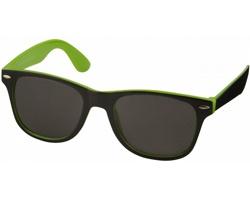 Plastové sluneční brýle NGAIO v retro stylu - jemně zelená / černá