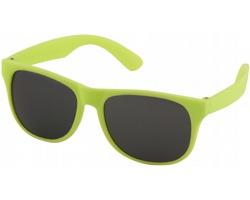 Plastové retro sluneční brýle PRIVATES s černými skly - neonově zelená