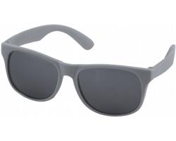 Plastové retro sluneční brýle PRIVATES s černými skly - šedá