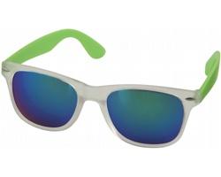 Plastové sluneční brýle GUMMA se zrcadlovými skly - jemně zelená