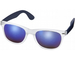 Plastové sluneční brýle GUMMA se zrcadlovými skly - námořní modrá
