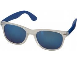 Plastové sluneční brýle GUMMA se zrcadlovými skly - královská modrá