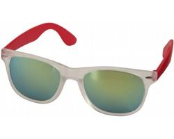 Plastové sluneční brýle GUMMA se zrcadlovými skly - červená