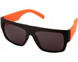 Plastové sluneční brýle BRAY s kontrastními obroučkami - oranžová / černá