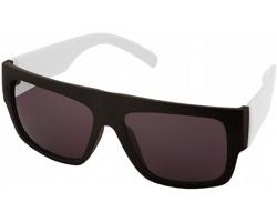 Plastové sluneční brýle BRAY s kontrastními obroučkami - bílá / černá