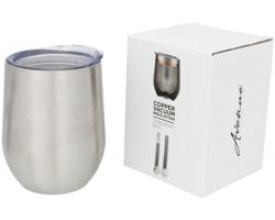 Nerezový termohrnek MOIST s dvojitou stěnou, 350 ml - stříbrná