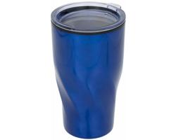 Dvouplášťový termohrnek JUST, 420 ml - modrá