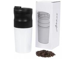 Elektrický přenosný kávovar REWED s nerezovým hrnkem, 420 ml - bílá