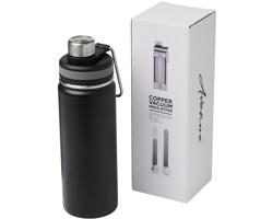 Nerezová sportovní lahev CHAR s vakuovo-měděnou izolací, 590 ml - černá