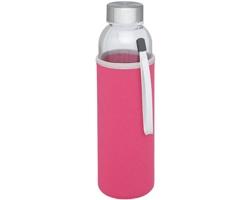 Skleněná lahev ROSHOLT s neoprenovým pouzdrem, 500 ml - růžová