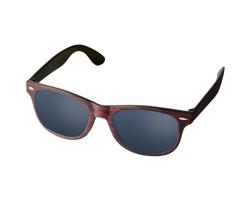 Plastové sluneční brýle MILLS s broušeným vzhledem - červená