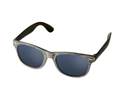 Plastové sluneční brýle MILLS s broušeným vzhledem - šedá