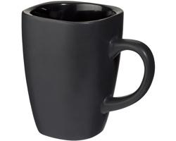 Keramický hrnek ARCUS čtvercového tvaru, 350 ml - černá