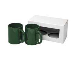 Dárková sada dvou keramických hrnků GULL, 330 ml - zelená